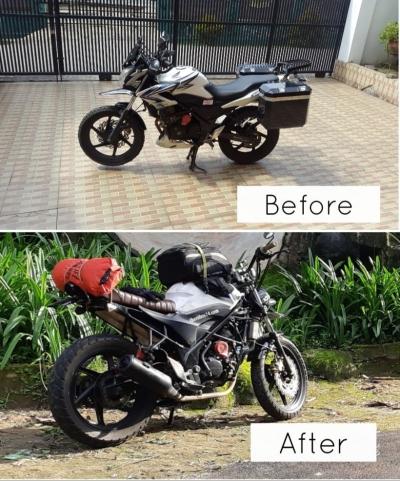 Menikmati Perjalanan Menggunakan Motor Kustom