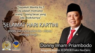 Peringati Hari Kartini, Donny Imam Priambodo Ajak Perempuan Indonesia Lebih Progresif