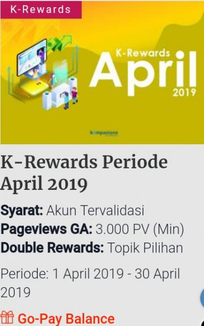 K-Rewards, Penghargaan yang Harus Dihargai