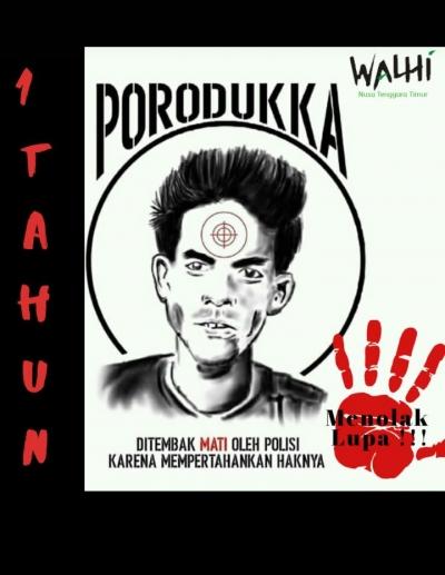 Walhi NTT: Kasus Poro Dukka Segera Diselesaikan