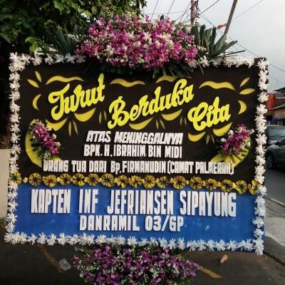 Turut Berduka Cita, Danramil 03/GP Kirimkan Karangan Bunga Atas Wafatnya Ayah dari Camat Palmerah