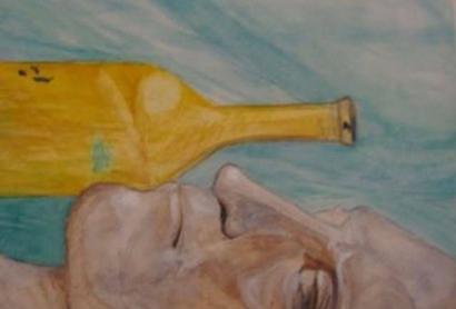 Sebotol Bekas Minuman Dingin yang Tergeletak di Lantai