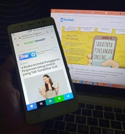 Jangan Coba-coba Ajukan Pinjaman Online, Data Pribadi Jadi Taruhan