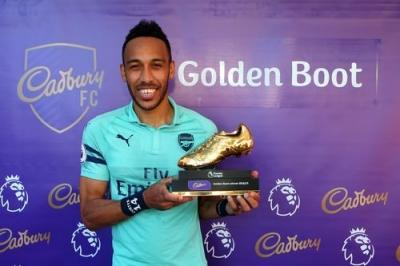 """Gagal Bawa Arsenal ke-4 Besar Premier League, Aubameyang Raih """"Golden Boot"""""""