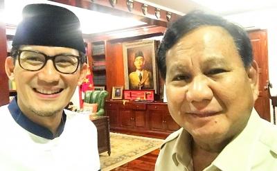 Di Balik Keceriaan Wajah Prabowo-Sandi, Bakal Ada Kejutan?