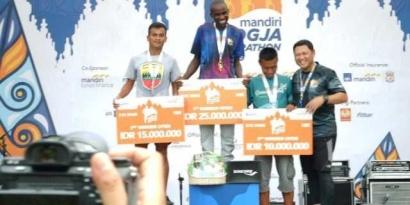 Pratu Werman Ukir Sejarah Di Marathon Jogja Mandiri 2019
