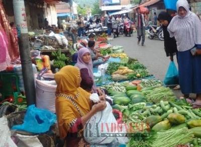 Suasana Pasar Pagi Blangpidie Saat Bulan Puasa