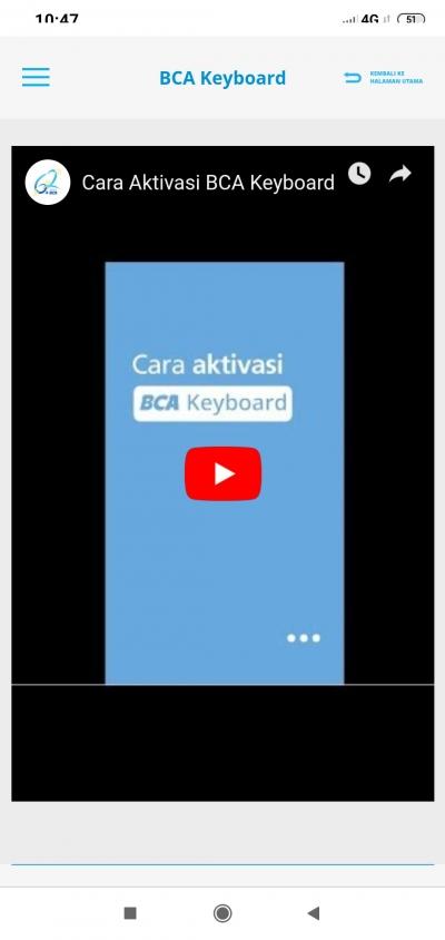 Ibu dan BCA Keyboard