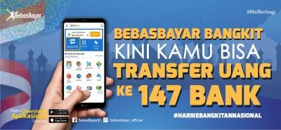 Kantongi Izin Transfer Dana dari BI, Kini di BebasBayar bisa Tarik dan Transfer di 147 Bank