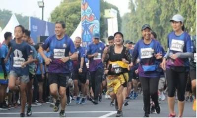 Mandiri Jogja Marathon Lomba Lari Unik dengan Sajian Kue Jajanan Pasar