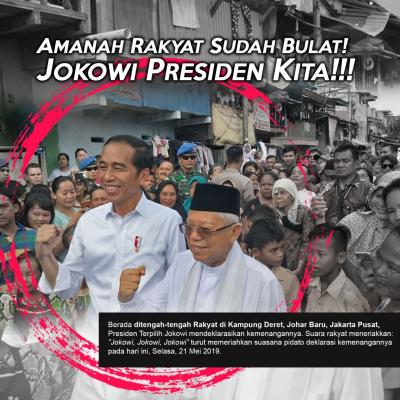 Amanah Rakyat Sudah Bulat, Jokowi Presiden Kita!