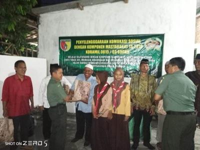 Rajut Silaturahmi Koramil 0815/03 Sooko Gelar Komsos dengan Komponen Masyarakat
