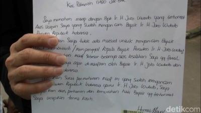 Akhirnya Hermawan Pengancam Jokowi Menyesal dan Minta Maaf ke Jokowi