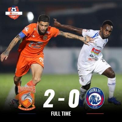 Arema FC Tidak Berkutik Lagi di Markas Borneo FC