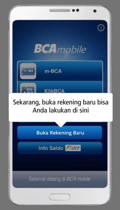 Mudahnya Buka Rekening Baru BCA hanya  dengan Smartphone