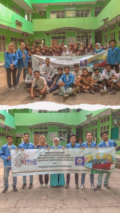 Pengabdian Masyarakat Universitas BSI Karawang 'Workshop dan Pengenalan Web Programing Dasar'