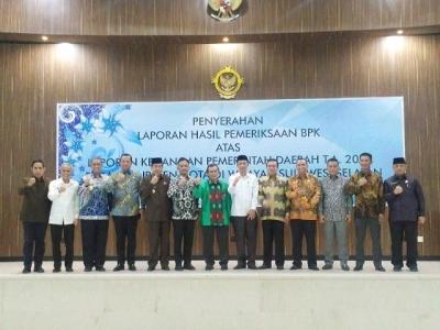 Terima WTP ke-4, Ilham Azikin Bakal Tindak Lanjuti Rekomendasi BPK RI