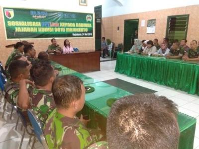 Babinsa Koramil Jajaran Kodim 0815 Terima Sosialisasi BRILink