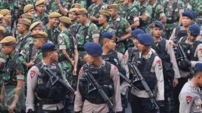 Sinergi TNI-Polri Solid Hadapi Belah Bambu