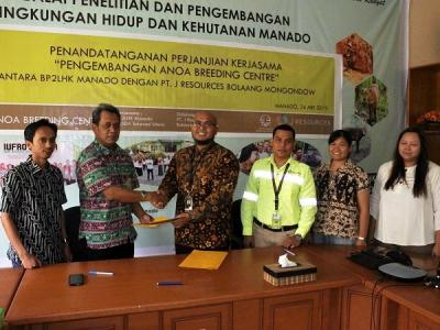 Turut Berkomitmen Menjaga Hutan dan Melestarikan Alam PT.JRBM kembali berikan Bantuan untuk ABC BP2LHK Manado