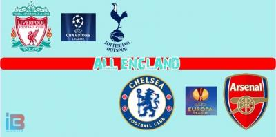 """""""All England """", Semua Liga Kasta Tertinggi di Eropa"""