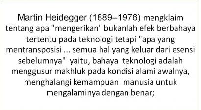 Heidegger Tentang Teknologi [3]