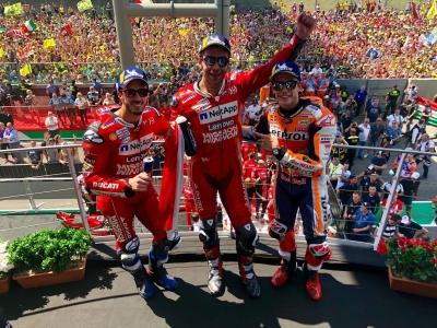 Petrucci Kalahkan Marquez dan Jadi Juara MotoGP Mugello