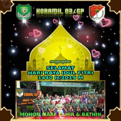 Danramil 03/GP Kapten Inf Jefriansen Sipayung, SE: Selamat Idul Fitri 1440 H, Mohon Maaf Lahir Batin
