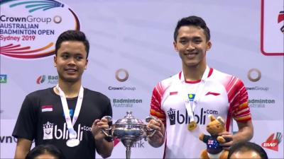 Tunggal Putra Indonesia Bangkit, Jonatan Christie Meraih Gelar Australian Open 2019