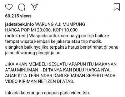 Pop Mie Siap Makan Dijual Rp20.000, Pantas atau Tidak?