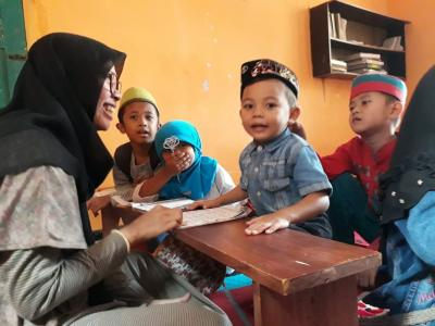 Mengajar TPQ  Jadi Agenda Rutin KKN UM Desa Gading Kembar pada Bulan Ramadan