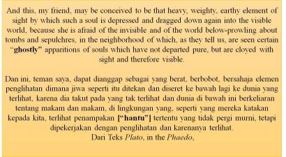 Epsiteme Hantu Dalam Teks Platon, Phaedo [2]