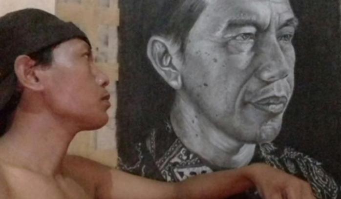 Cefi dan Lukisan Indah sang Buruh untuk Jokowi