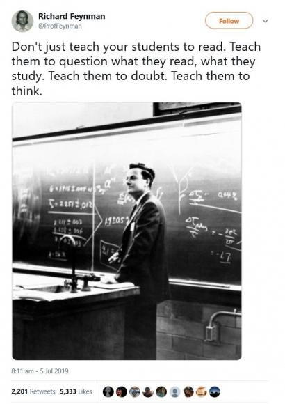 Ini Nasihat Richard Feynman untuk Para Pendidik