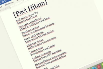 Puisi | Peci Hitam