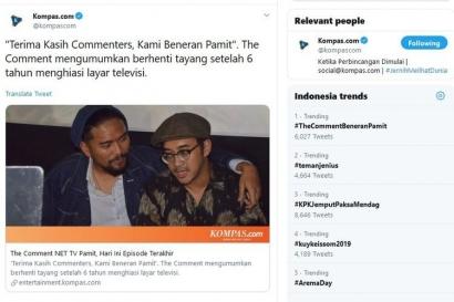The Comment Pamit, Apakah Dampak dari Isu Kebangkrutan NET TV?