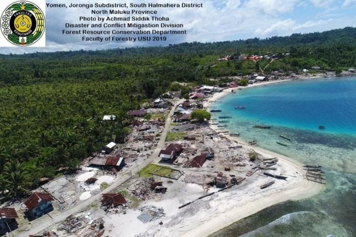 Melihat Lebih Dekat Kondisi Yomen, Desa yang Luluh Lantak oleh Gempa Maluku Utara