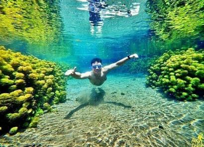 Sumber Sirah Satu-satunya Snorkeling Murah dan Meriah