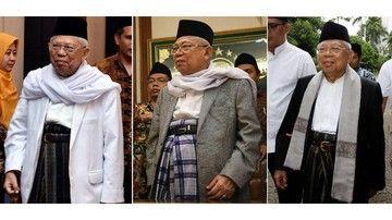 KH. Ma'ruf Amin Sarungan saat Pelantikan?