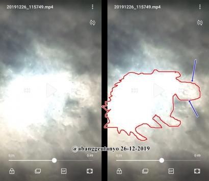 Bayangan Aneh Gerhana Matahari Cincin di atas Lhokseumawe