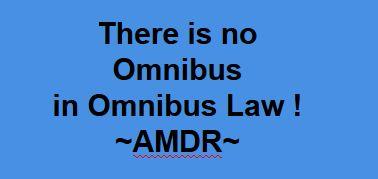 Kesalahan Penggunaan Istilah Omnibus Law