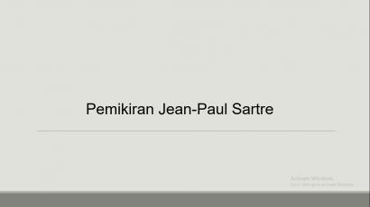 Sartre Menggambarkan Itikad Buruk