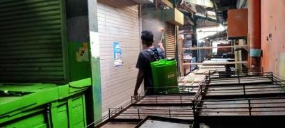 Pasar Sitanggal Swadaya Adakan Penyemprotan Disinfektan