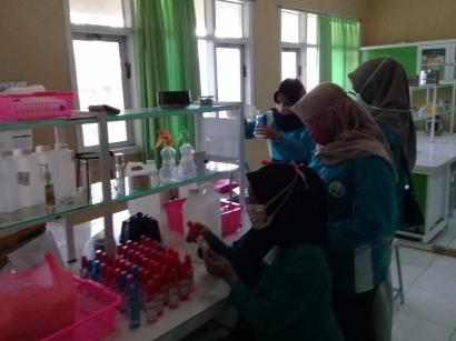 Pembuatan Hand Sanitizer, Menuju Kampus Menara Air
