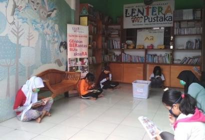 "Peduli Anak di Kala Covid-19, TBM Lentera Pustaka Gelar ""Ngabubu-Read"""