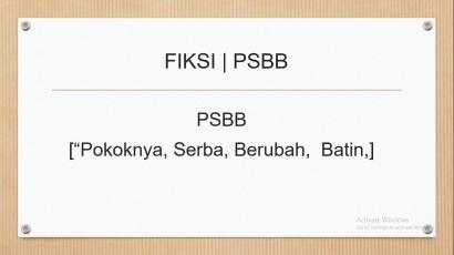 Fiksi   PSBB