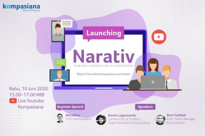 [Live Launching] Mengenal Narativ, Content Marketing Playground di Kompasiana