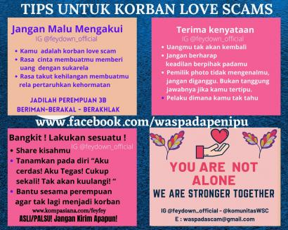 Tips untuk Korban Love Scams!