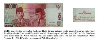 Uang Unik dengan Tanda Tangan 3 Presiden dan Wapres