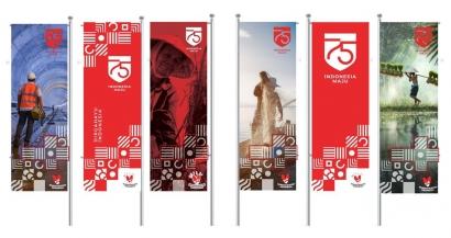 SuperGraphic Salib pada Logo 75 Tahun Indonesia